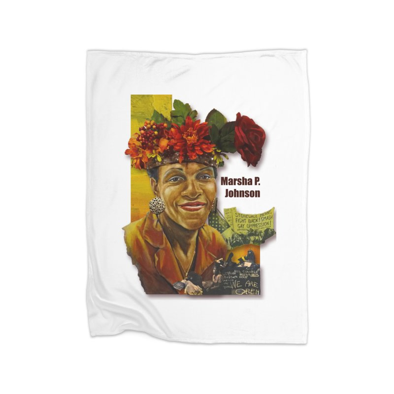 Marsha P Johnson Home Fleece Blanket Blanket by Afro Triangle's