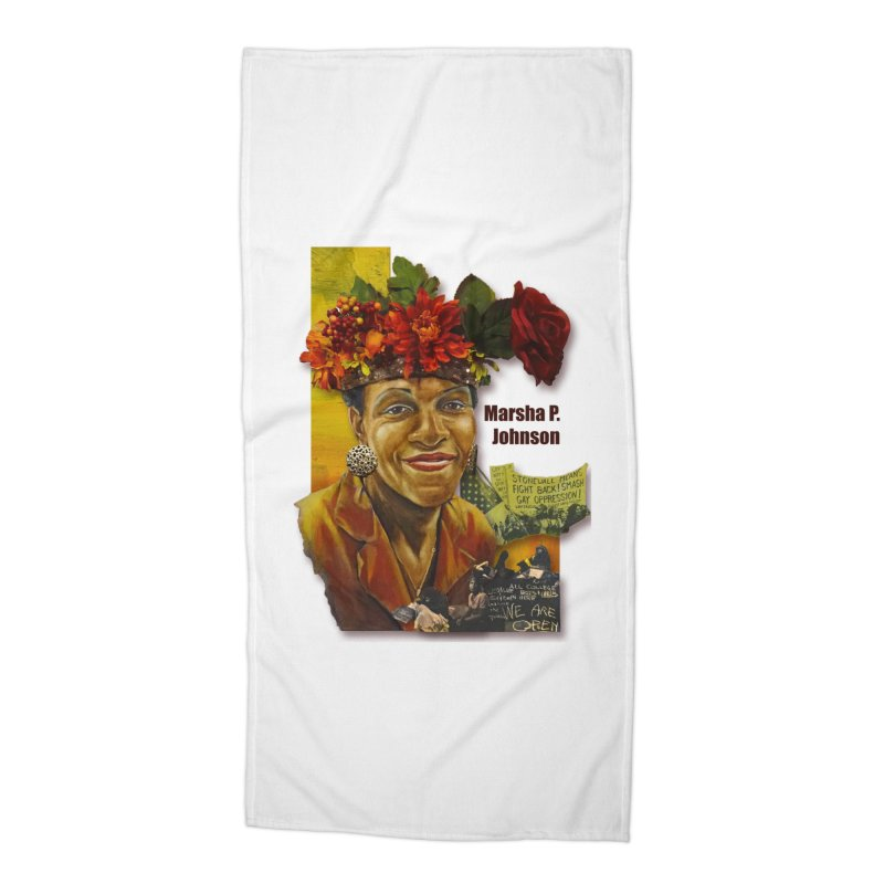 Marsha P Johnson Accessories Beach Towel by Afro Triangle's