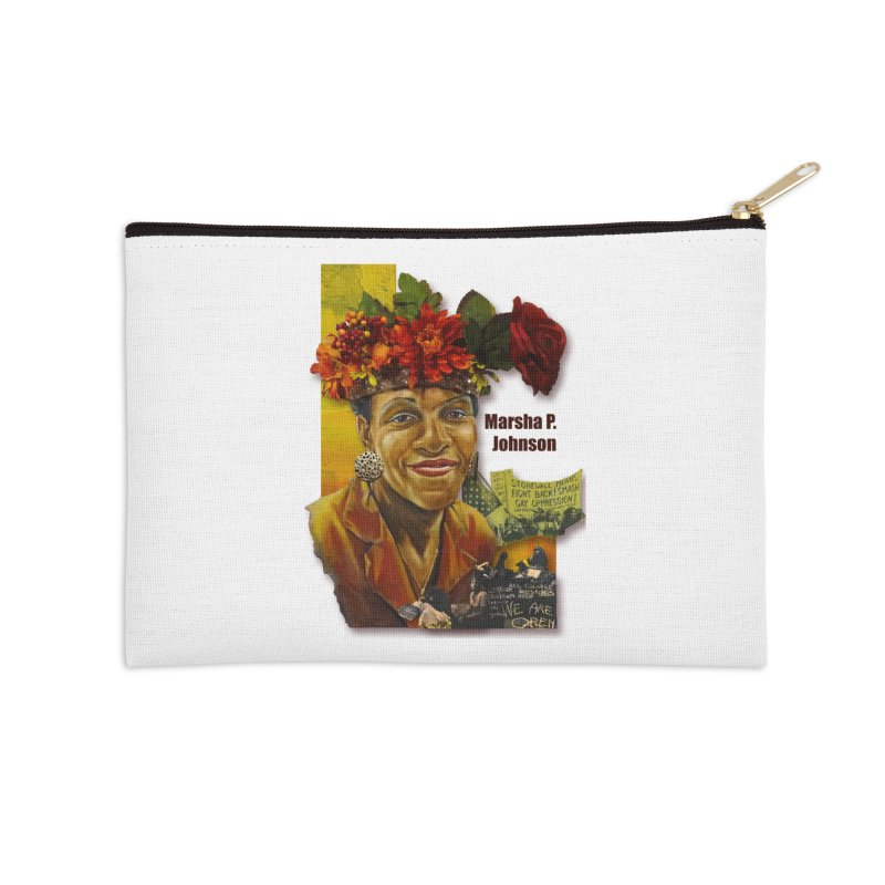 Marsha P Johnson Accessories Zip Pouch by Afro Triangle's