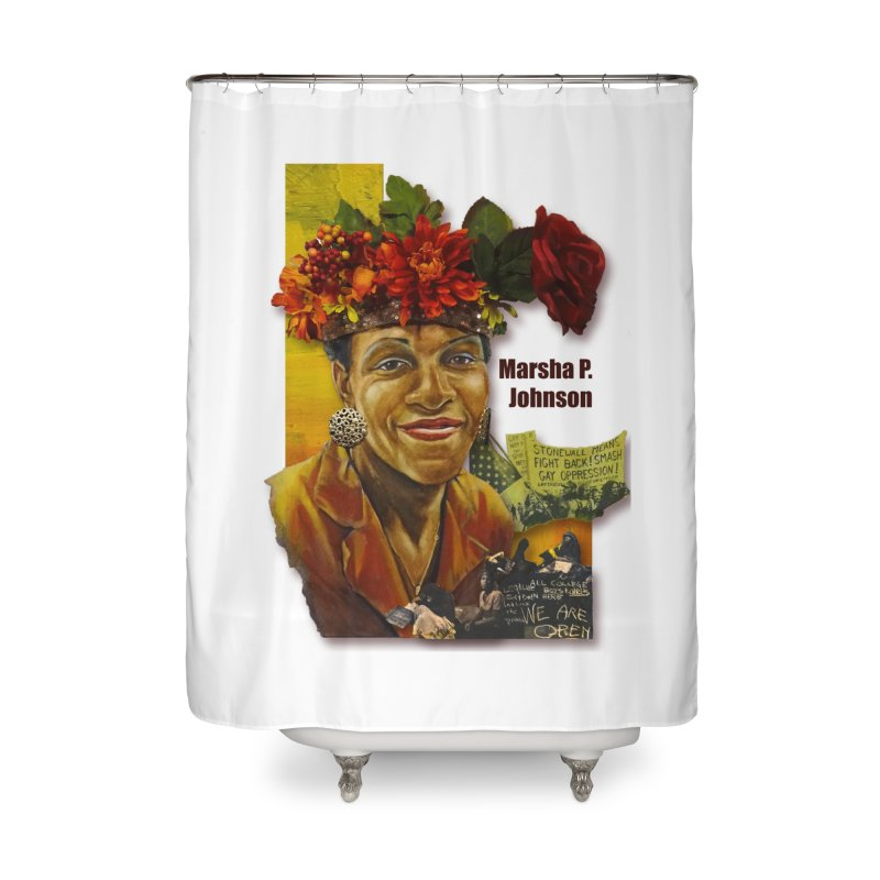 Marsha P Johnson Home Shower Curtain by Afro Triangle's