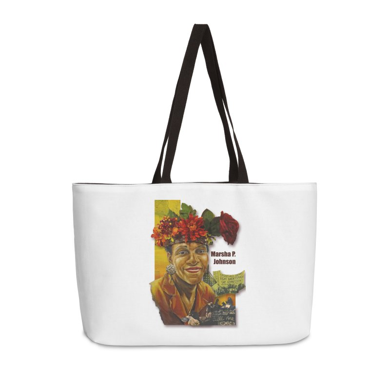 Marsha P Johnson Accessories Weekender Bag Bag by Afro Triangle's