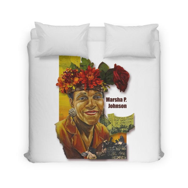 Marsha P Johnson Home Duvet by Afro Triangle's