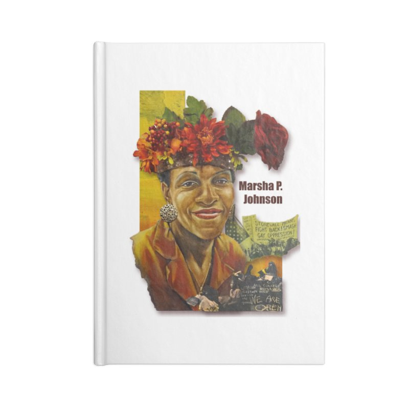 Marsha P Johnson Accessories Blank Journal Notebook by Afro Triangle's