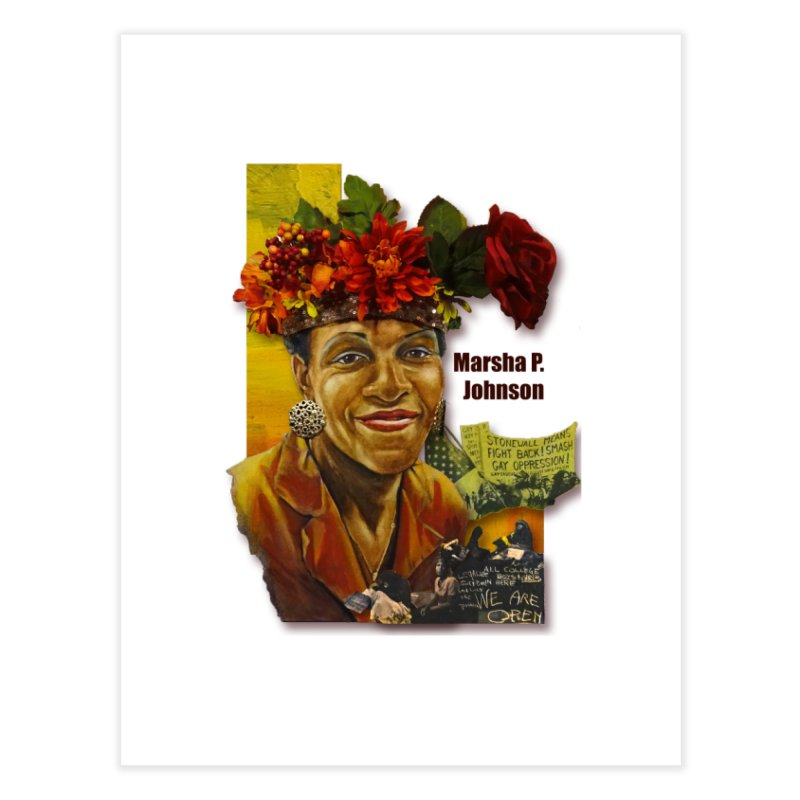 Marsha P Johnson Home Fine Art Print by Afro Triangle's