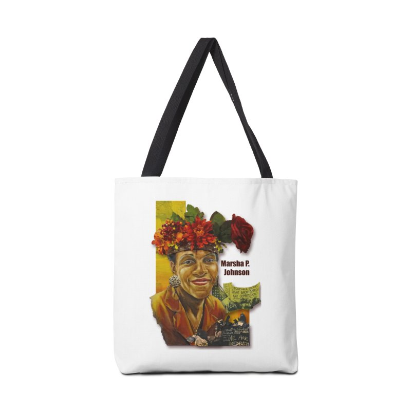 Marsha P Johnson Accessories Tote Bag Bag by Afro Triangle's