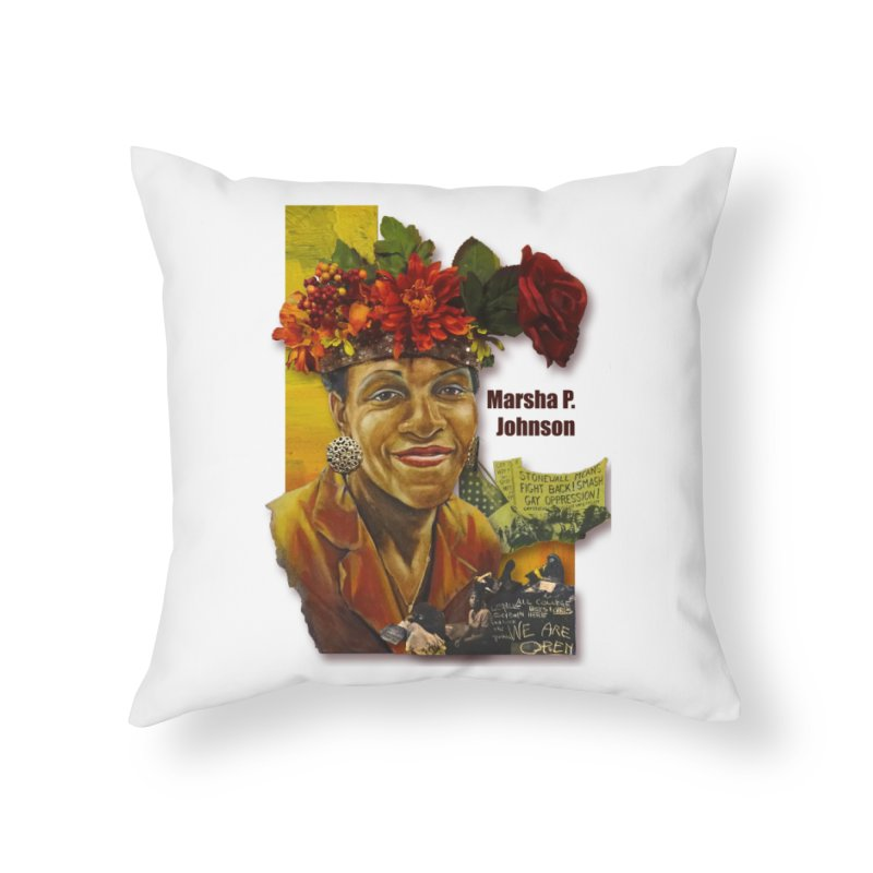 Marsha P Johnson Home Throw Pillow by Afro Triangle's