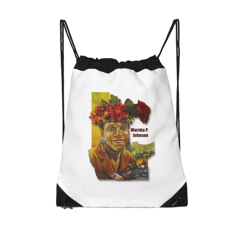 Marsha P Johnson Accessories Drawstring Bag Bag by Afro Triangle's