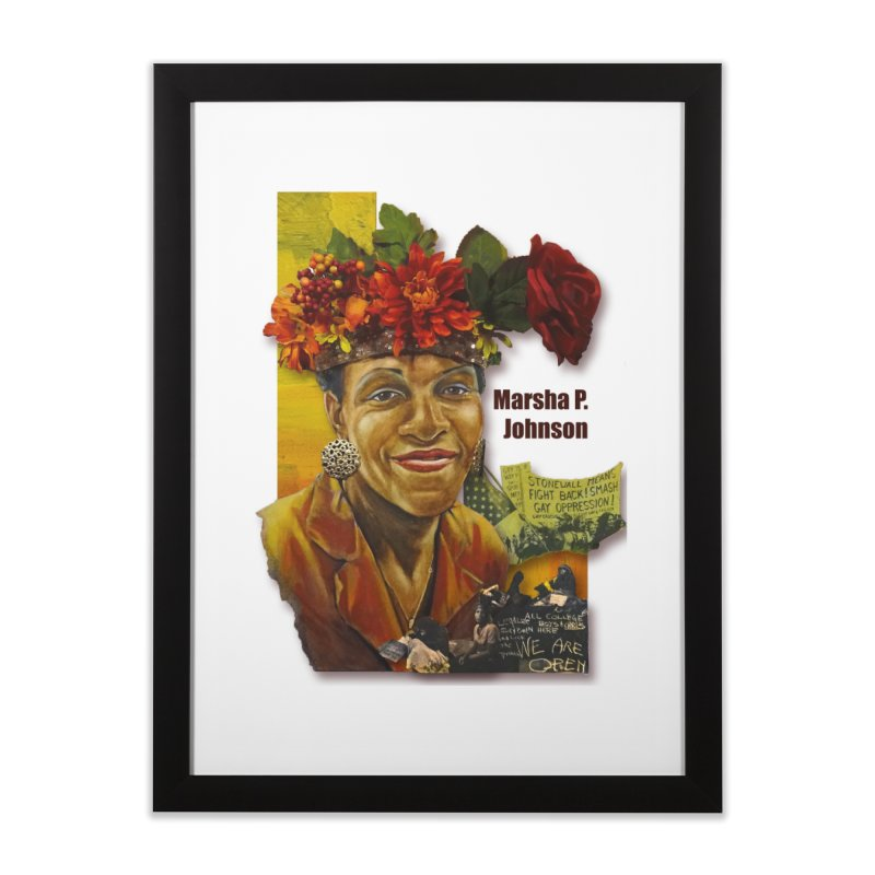 Marsha P Johnson Home Framed Fine Art Print by Afro Triangle's