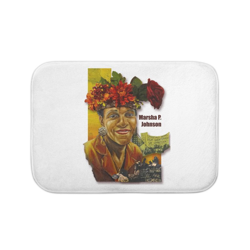 Marsha P Johnson Home Bath Mat by Afro Triangle's