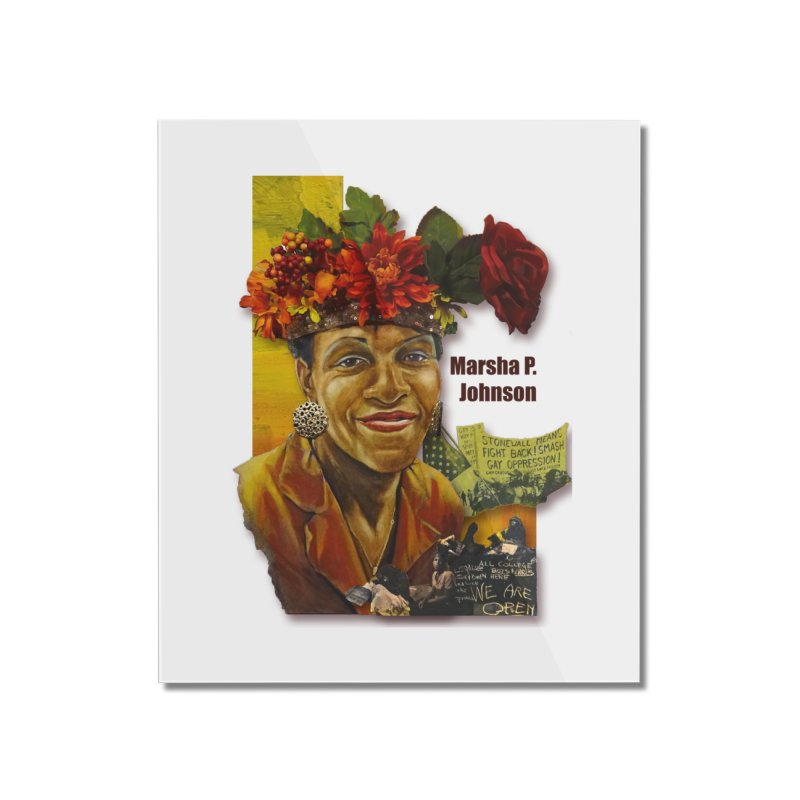 Marsha P Johnson Home Mounted Acrylic Print by Afro Triangle's