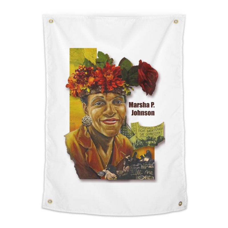 Marsha P Johnson Home Tapestry by Afro Triangle's
