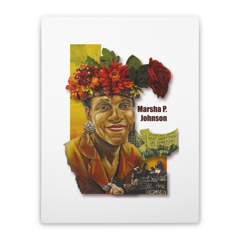 Marsha P Johnson Home Stretched Canvas by Afro Triangle's