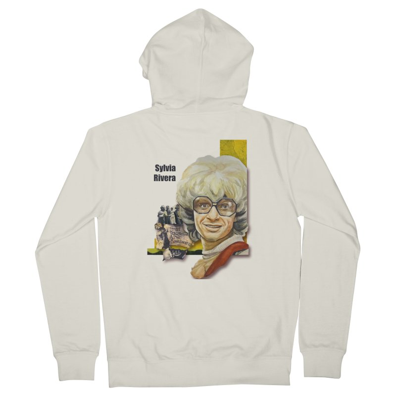Silvia Rivera Men's French Terry Zip-Up Hoody by Afro Triangle's