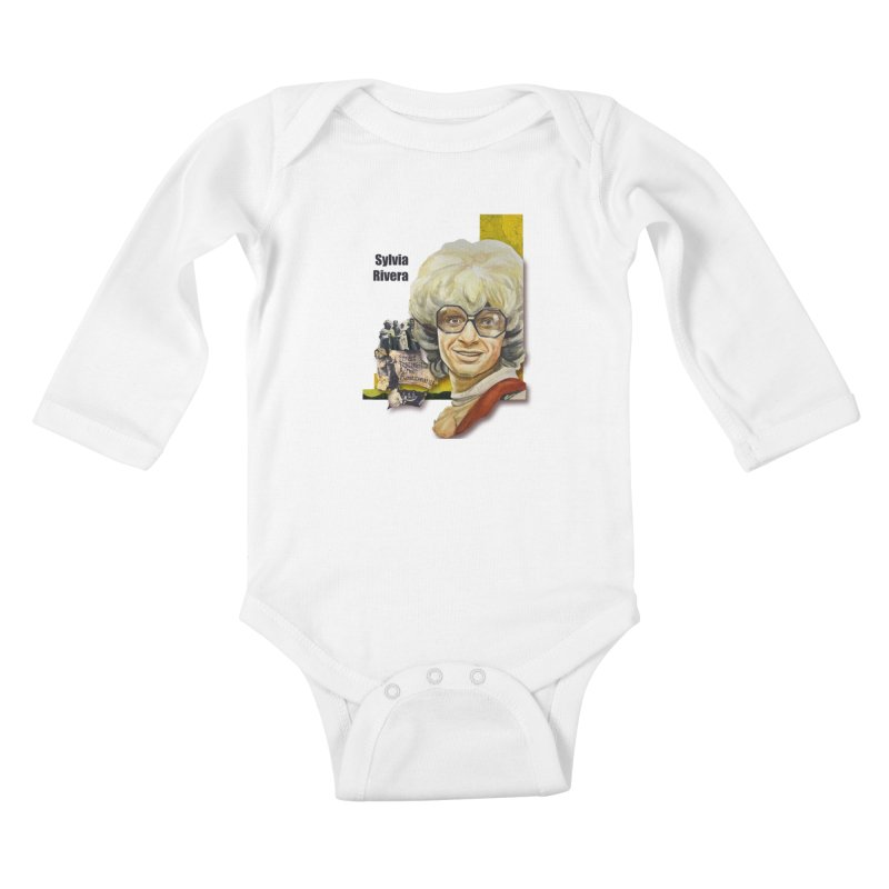 Silvia Rivera Kids Baby Longsleeve Bodysuit by Afro Triangle's