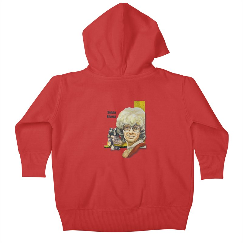 Silvia Rivera Kids Baby Zip-Up Hoody by Afro Triangle's