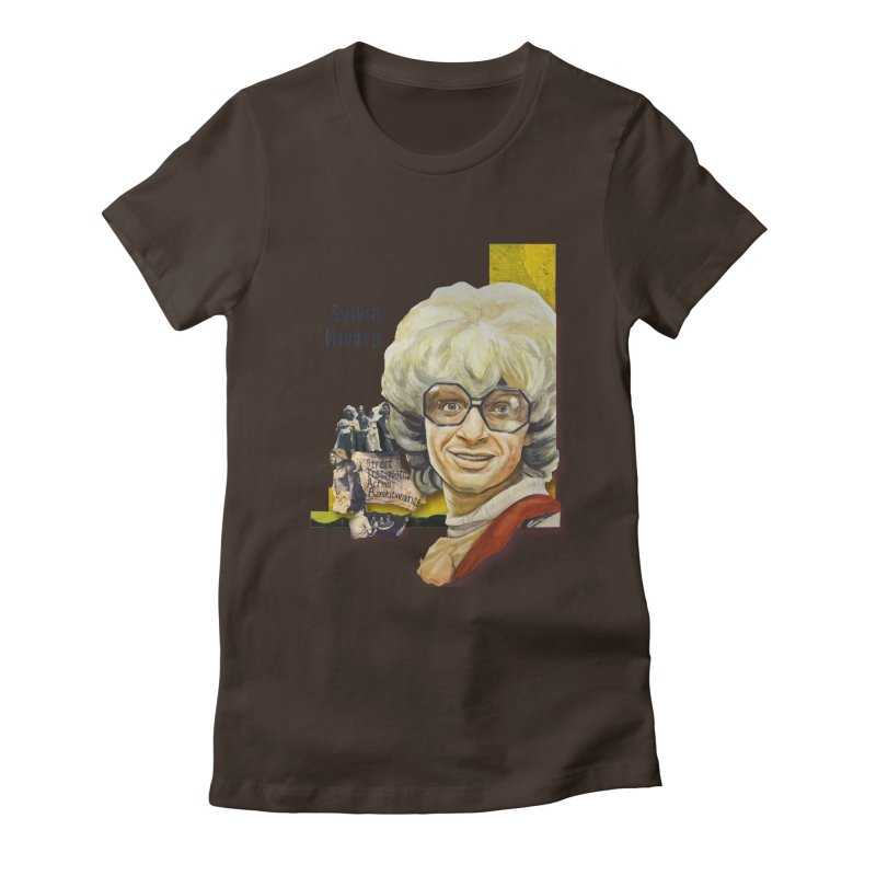 Silvia Rivera Women's Fitted T-Shirt by Afro Triangle's