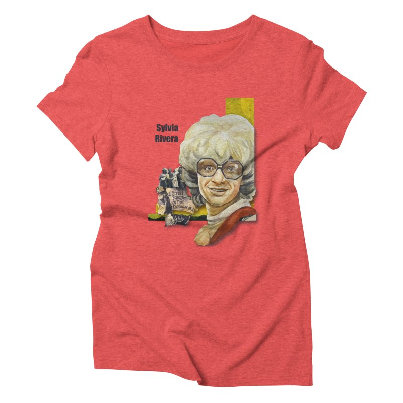 Silvia Rivera Women's Triblend T-Shirt by Afro Triangle's