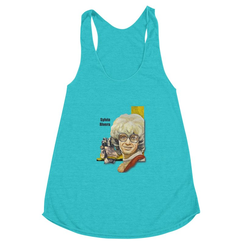 Silvia Rivera Women's Racerback Triblend Tank by Afro Triangle's