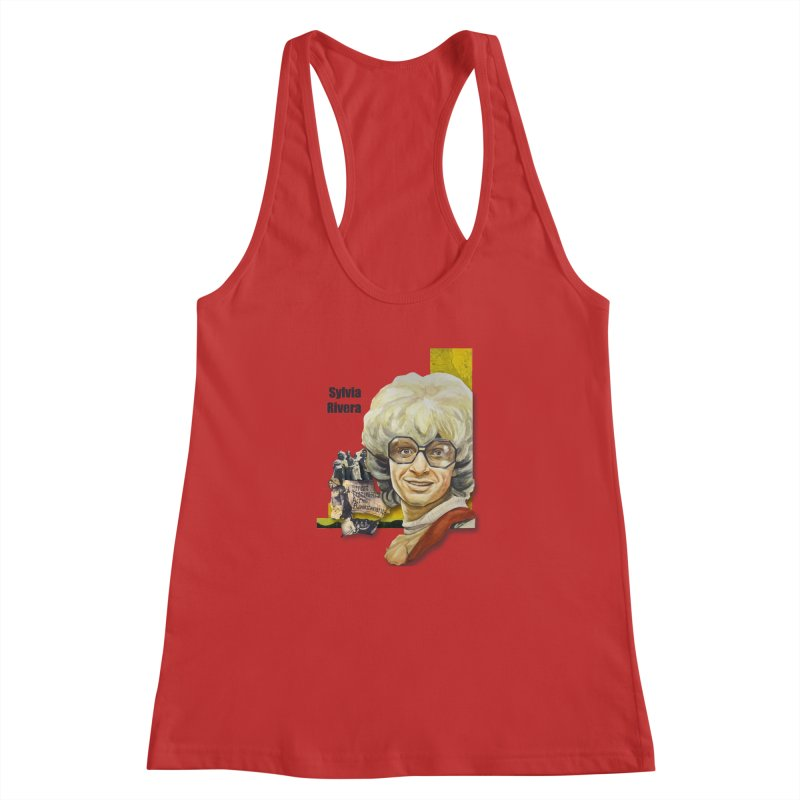 Silvia Rivera Women's Racerback Tank by Afro Triangle's