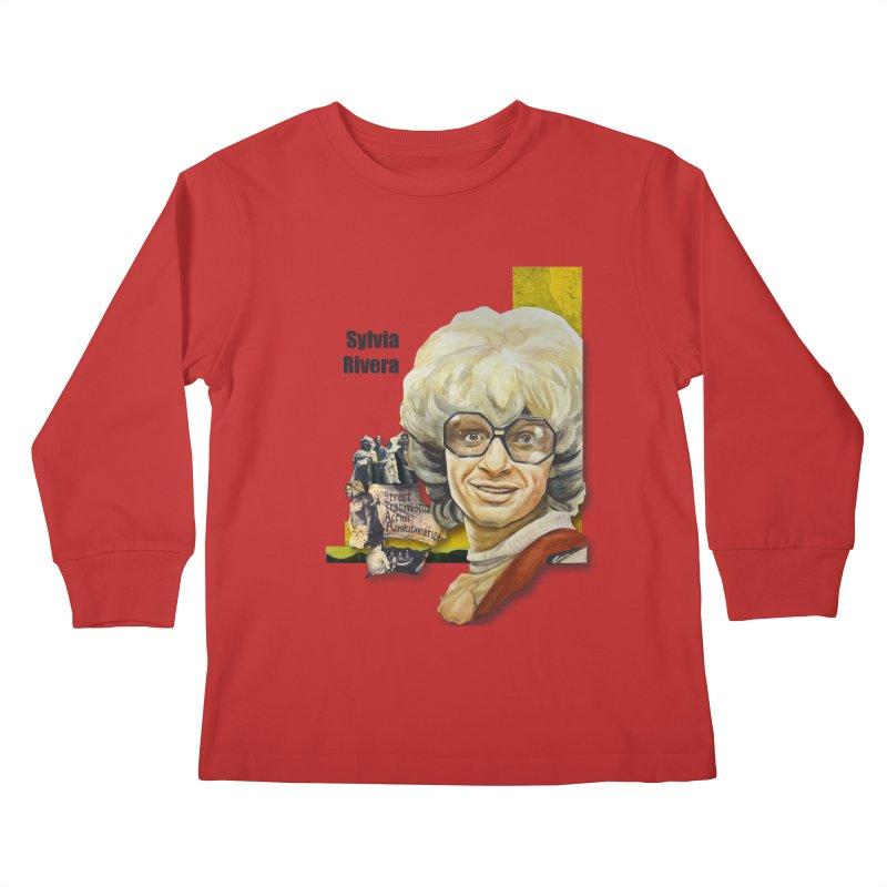 Silvia Rivera Kids Longsleeve T-Shirt by Afro Triangle's