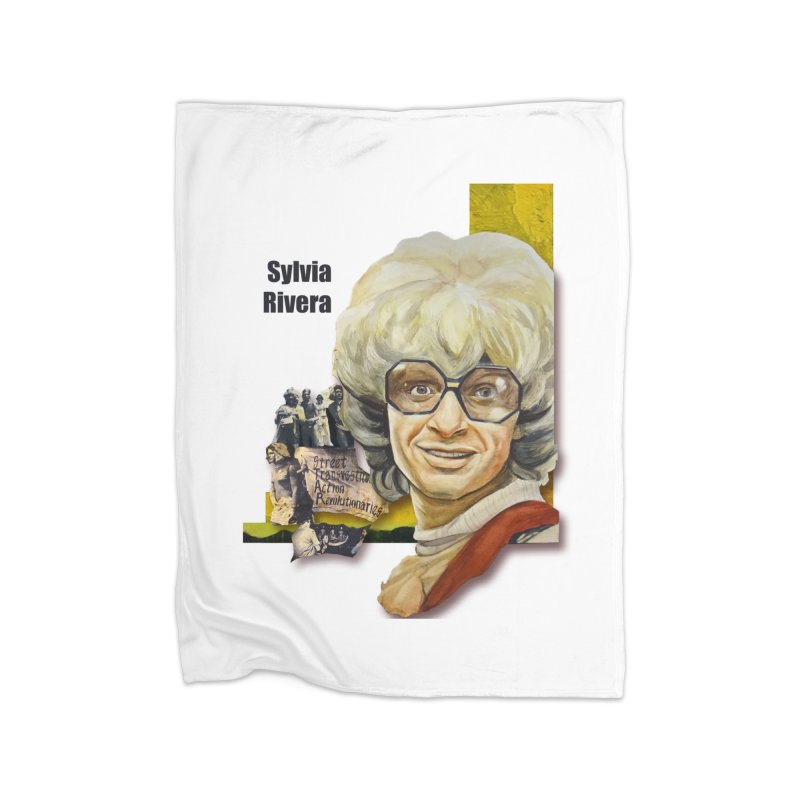 Silvia Rivera Home Fleece Blanket Blanket by Afro Triangle's