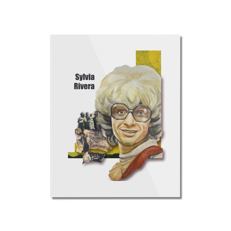 Silvia Rivera Home Mounted Acrylic Print by Afro Triangle's