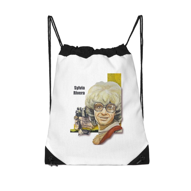 Silvia Rivera Accessories Drawstring Bag Bag by Afro Triangle's