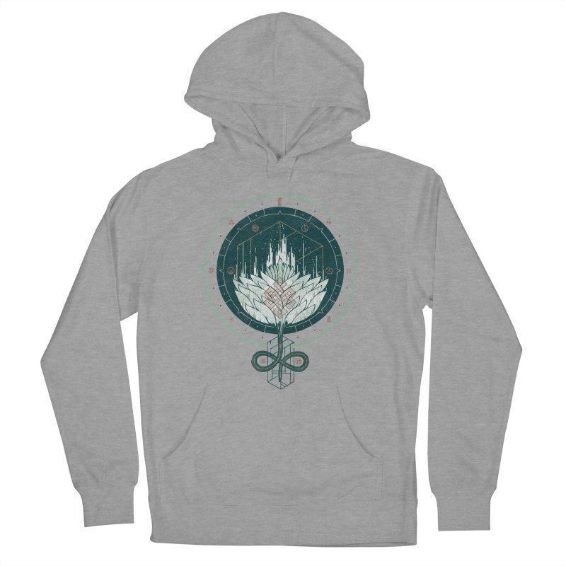 White Dahlia Women's French Terry Pullover Hoody by againstbound's Artist Shop
