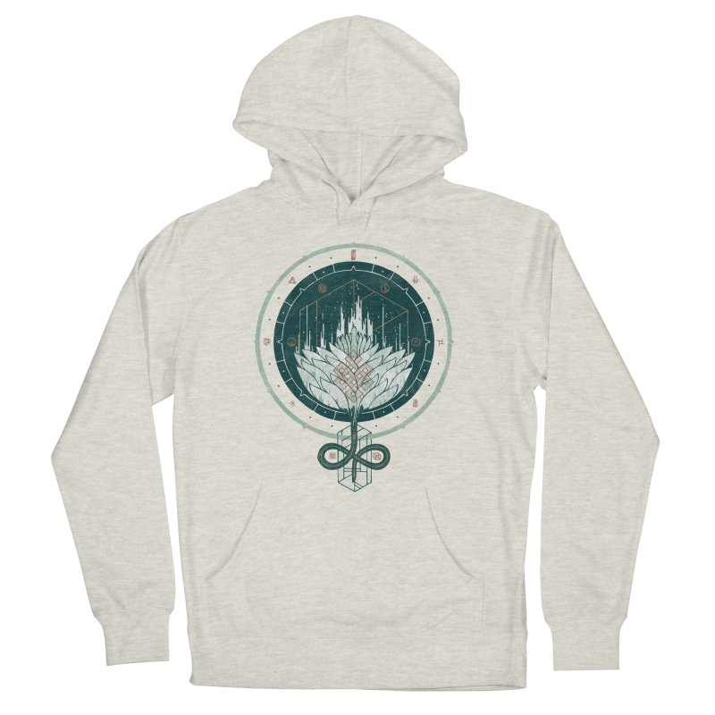 White Dahlia Men's French Terry Pullover Hoody by againstbound's Artist Shop