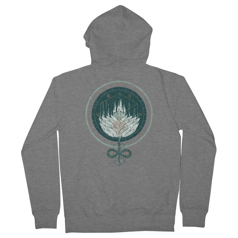 White Dahlia Women's Zip-Up Hoody by againstbound's Artist Shop