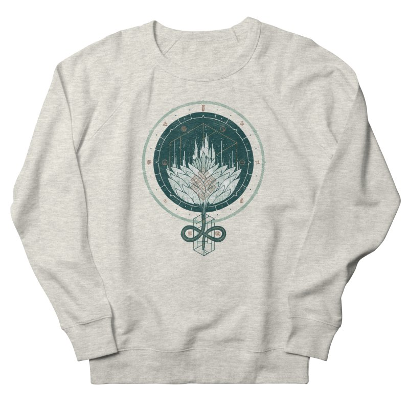 White Dahlia Women's French Terry Sweatshirt by againstbound's Artist Shop