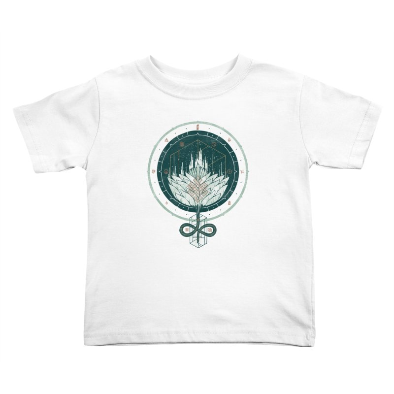 White Dahlia Kids Toddler T-Shirt by againstbound's Artist Shop