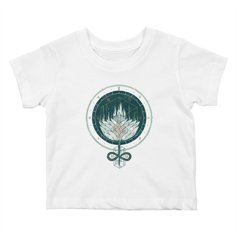 White Dahlia Kids Baby T-Shirt by againstbound's Artist Shop