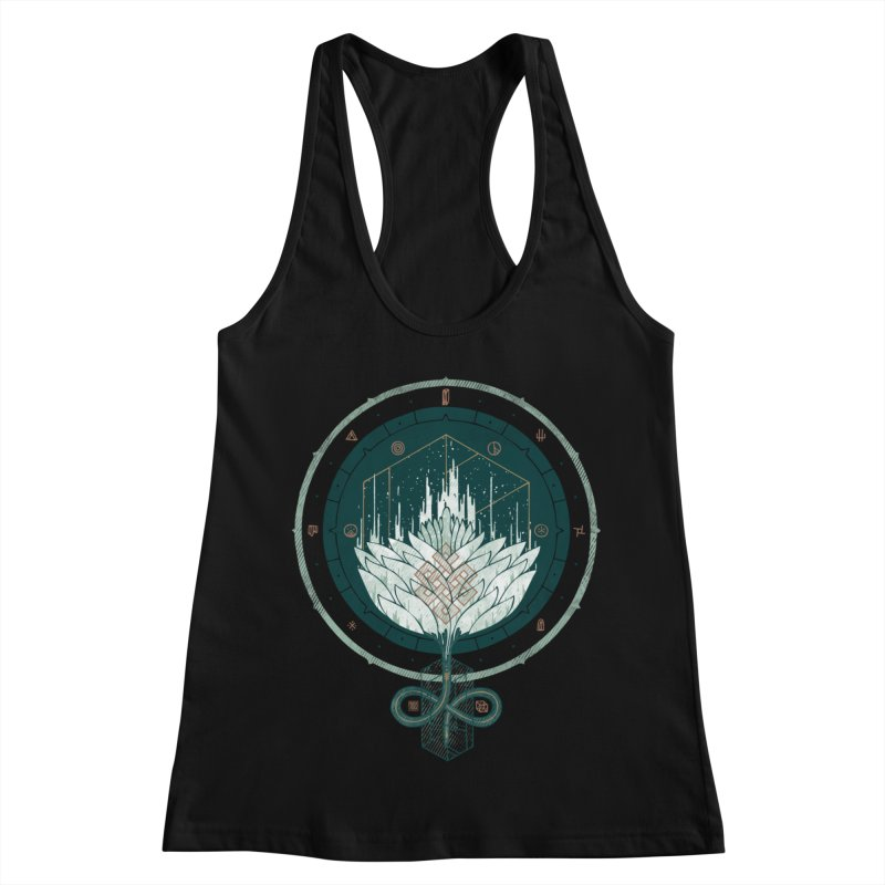 White Dahlia Women's Racerback Tank by againstbound's Artist Shop