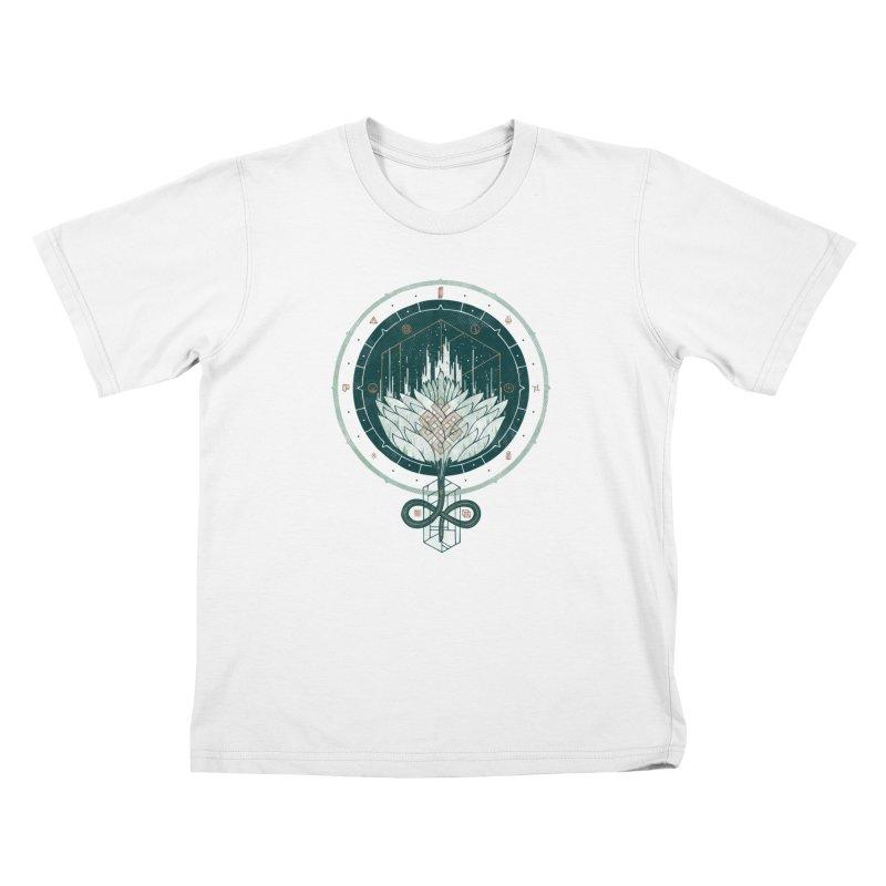 White Dahlia Kids T-Shirt by againstbound's Artist Shop