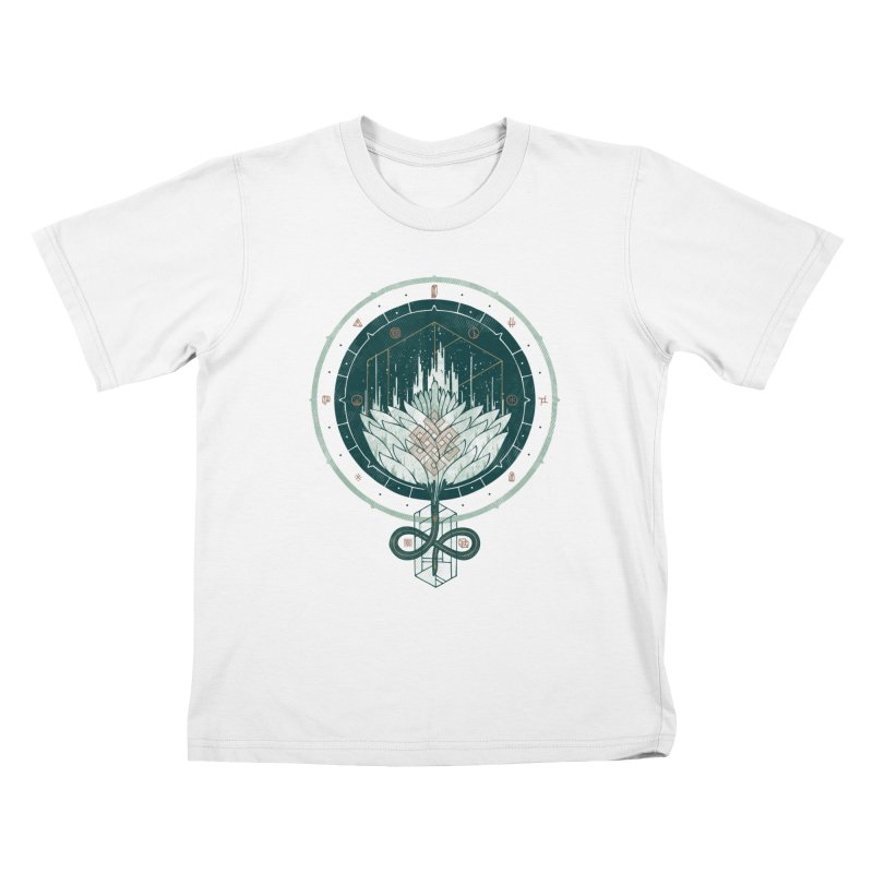 White Dahlia Kids T-shirt by againstbound's Artist Shop