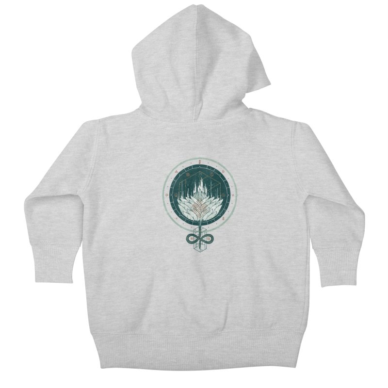 White Dahlia Kids Baby Zip-Up Hoody by againstbound's Artist Shop