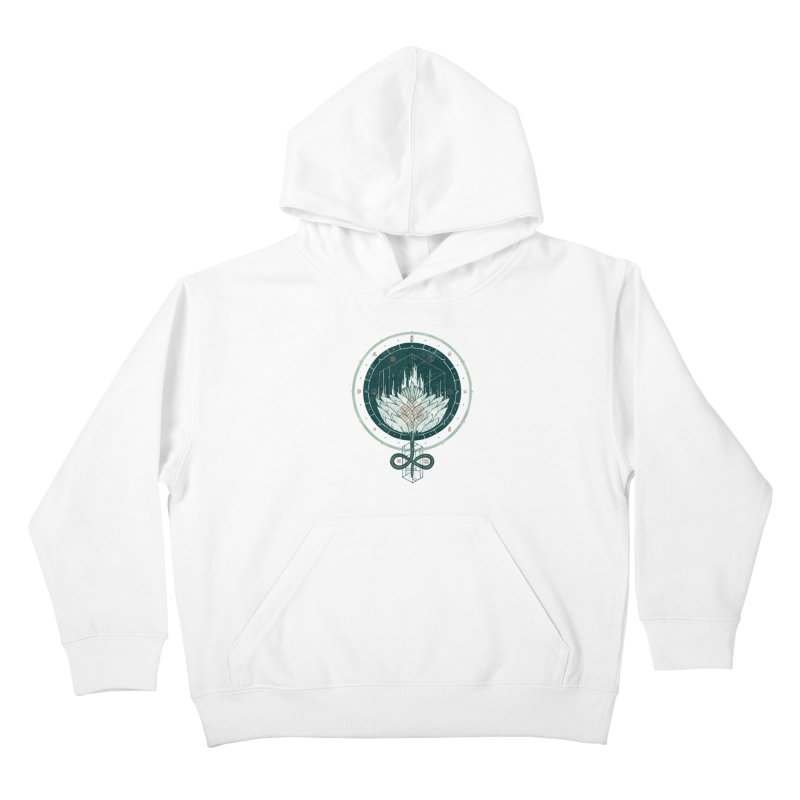 White Dahlia Kids Pullover Hoody by againstbound's Artist Shop