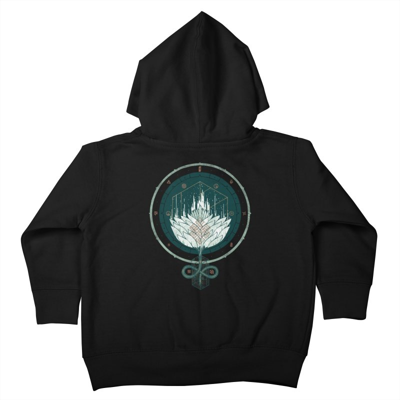 White Dahlia Kids Toddler Zip-Up Hoody by againstbound's Artist Shop