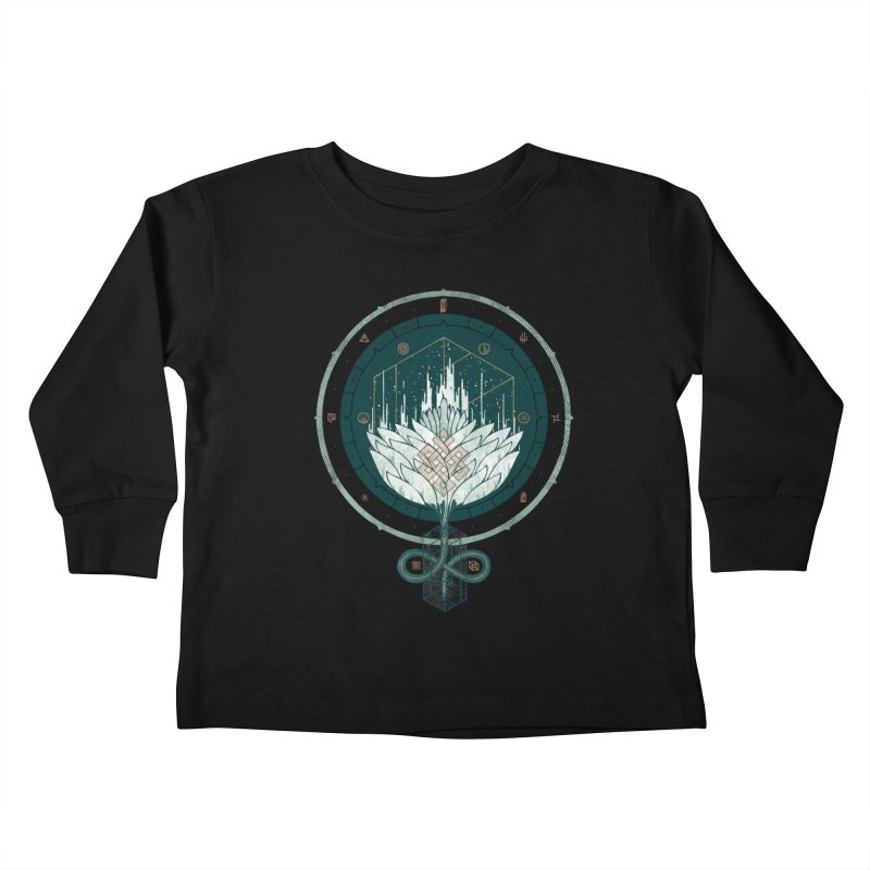White Dahlia Kids Toddler Longsleeve T-Shirt by againstbound's Artist Shop