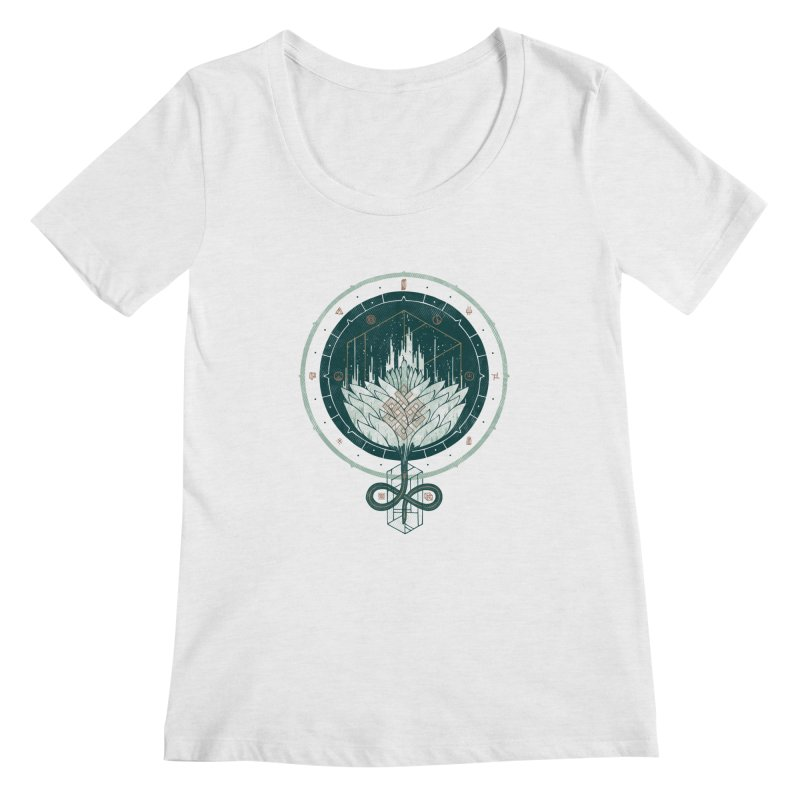 White Dahlia Women's Regular Scoop Neck by againstbound's Artist Shop