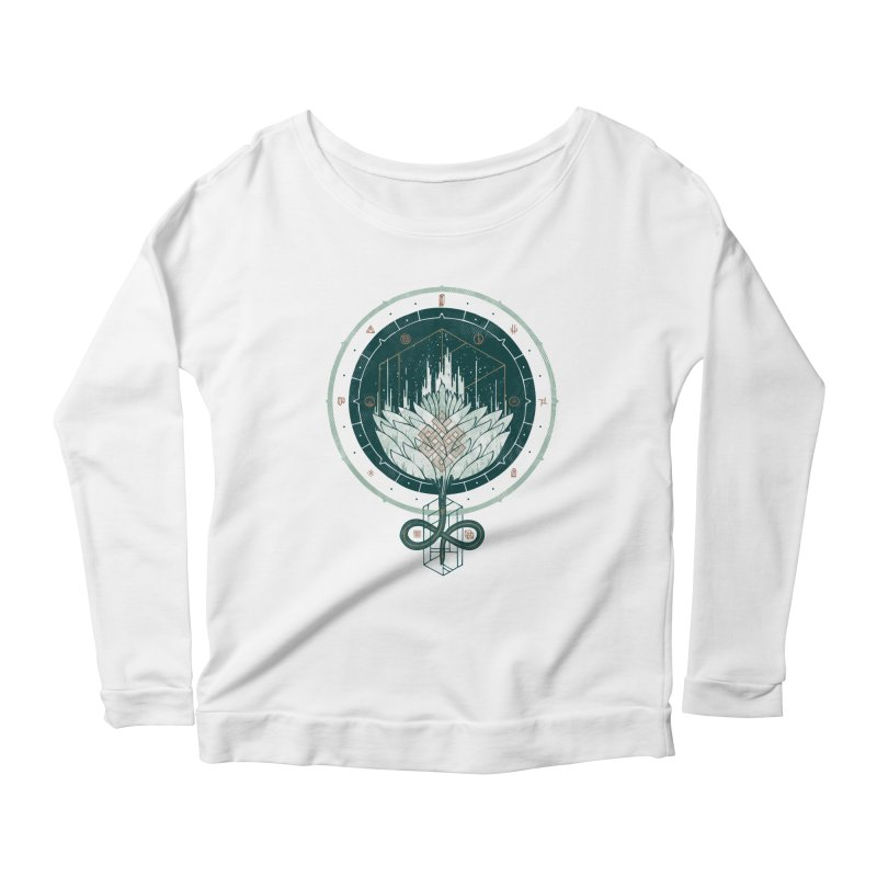 White Dahlia Women's Scoop Neck Longsleeve T-Shirt by againstbound's Artist Shop