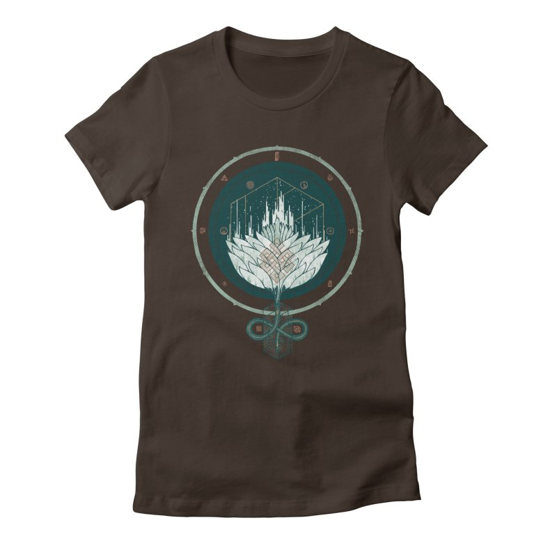 White Dahlia Women's Fitted T-Shirt by againstbound's Artist Shop