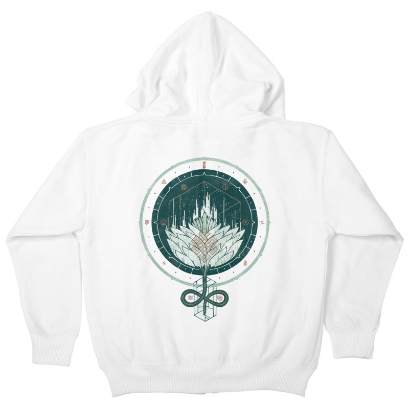 White Dahlia Kids Zip-Up Hoody by againstbound's Artist Shop