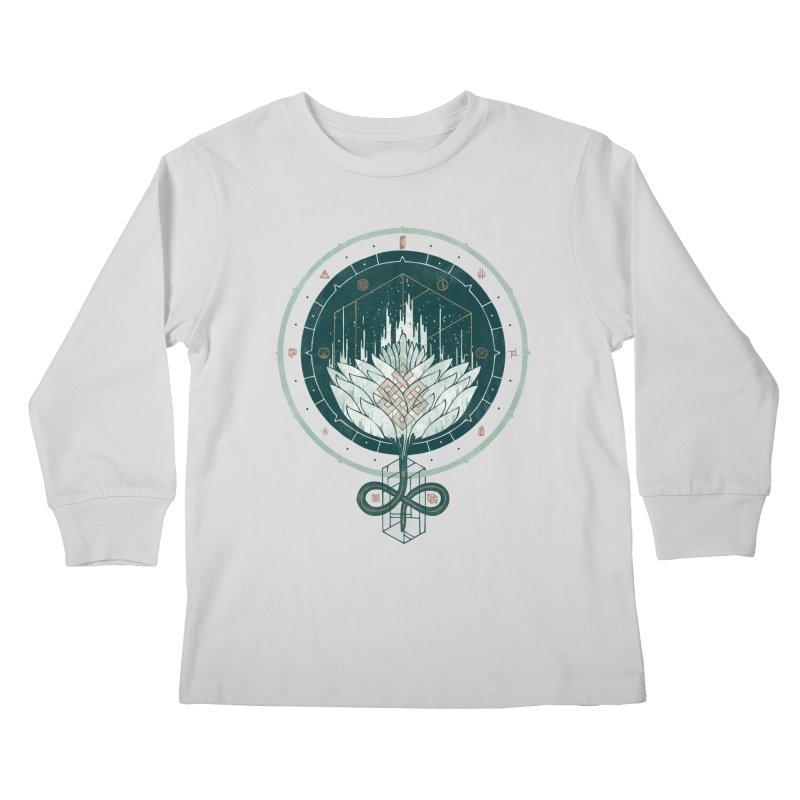 White Dahlia Kids Longsleeve T-Shirt by againstbound's Artist Shop