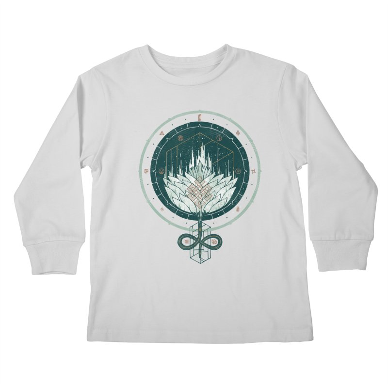 White Dahlia Kids Longsleeve T-Shirt by againstbound's Artist Shop