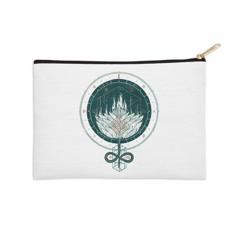 White Dahlia Accessories Zip Pouch by againstbound's Artist Shop