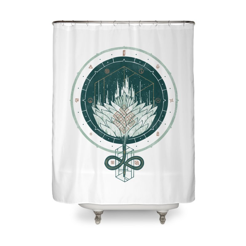 White Dahlia Home Shower Curtain by againstbound's Artist Shop