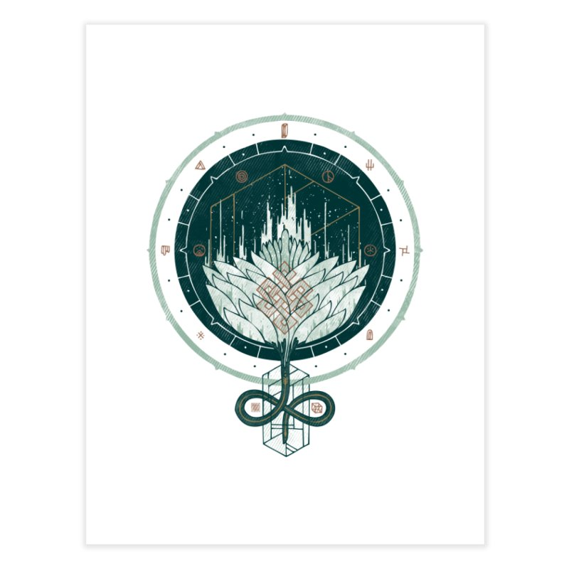 White Dahlia Home Fine Art Print by againstbound's Artist Shop