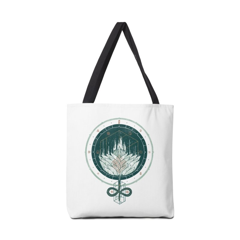 White Dahlia Accessories Bag by againstbound's Artist Shop